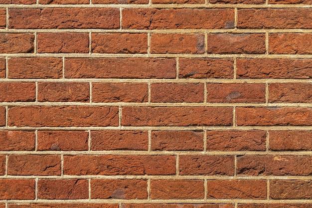 Sullo sfondo di un muro di mattoni rossi texture pattern