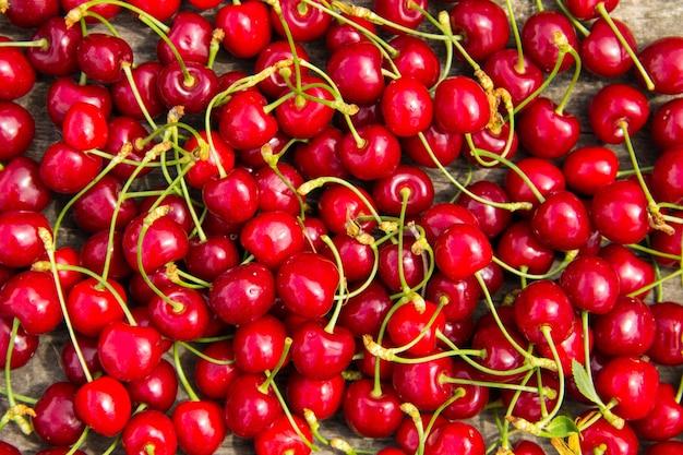 Sfondo dei frutti di ciliegia rossa