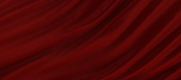 Sfondo di rosso e seta o tessuto di raso di lusso texture, sfondo astratto.