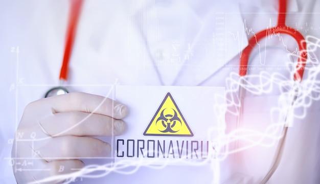 Un ricercatore in laboratorio sta testando farmaci per il trattamento della polmonite virale. esame del sangue del coronavirus di pazienti infetti. pandemia mondiale.