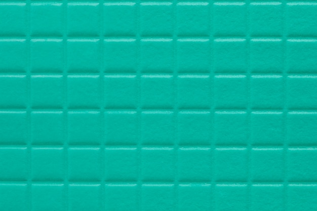 Sfondo di quadrati con una morbida consistenza di colore turchese