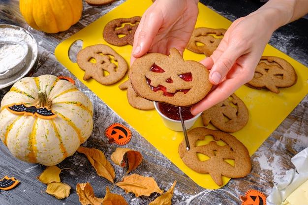 Sfondo nello stile della festa di halloween