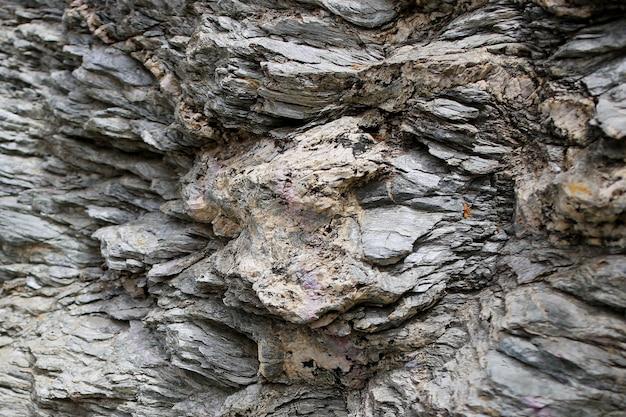 Texture di sfondo della parete di roccia ruvida scogliera