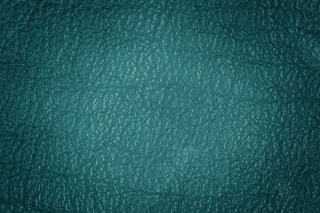 Texture di sfondo turchese in pelle naturale