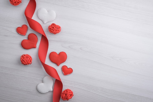 Sfondo per il giorno di san valentino biglietto di auguri concetto di san valentino