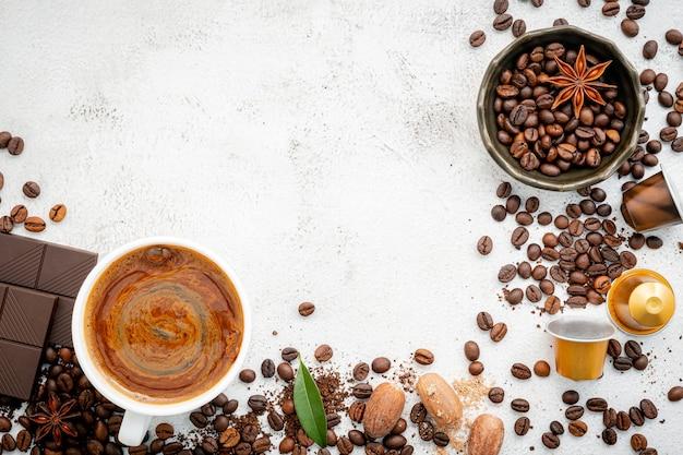 Sfondo di vari caffè