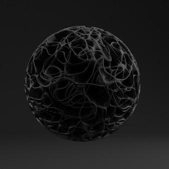 Sfondo con forma nera, texture. illustrazione 3d, rendering 3d.