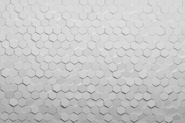Sfondo con piastrelle bianco puro esagonale.