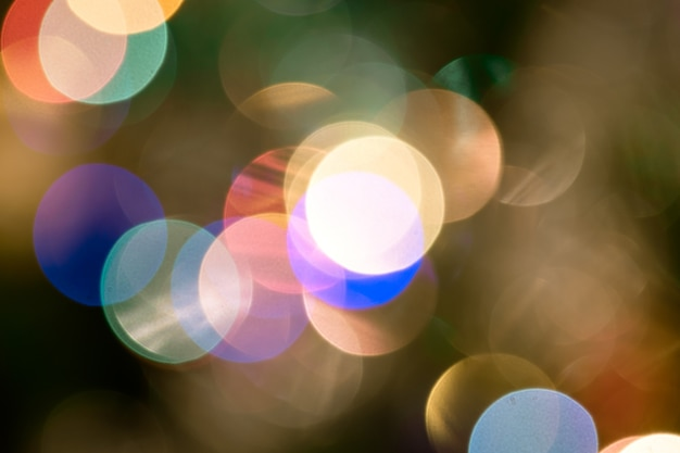 Sfondo con luci e sfondo sfocato bokeh.