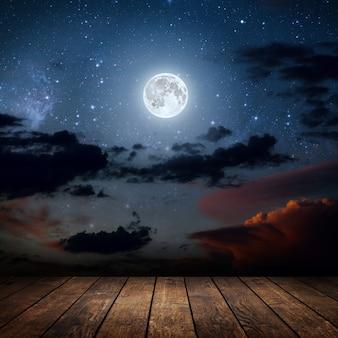 Sfondi cielo notturno con stelle e luna e nuvole legno elementi di questa immagine fornita dalla nasa
