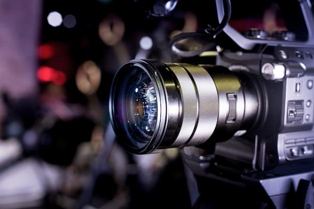 Backstage di videocamere professionali di produzione video