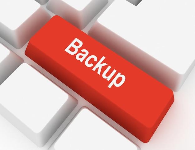Concetto di chiave del computer di backup