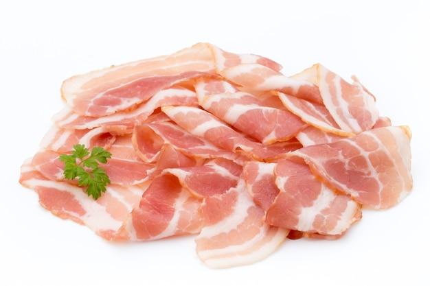 Bacon isolato alimento delikatese