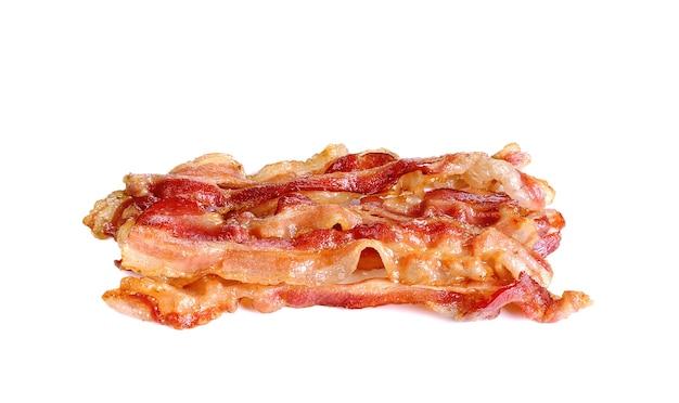 Bacon isolato su bianco isolato