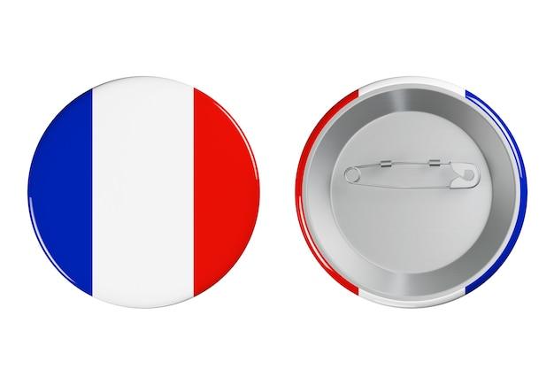 Distintivi con bandiera della francia su sfondo bianco