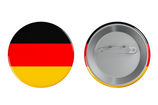 Distintivi con bandiera della germania su sfondo bianco