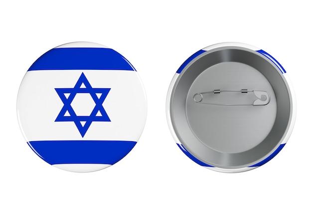 Distintivi con bandiera israeliana su sfondo bianco