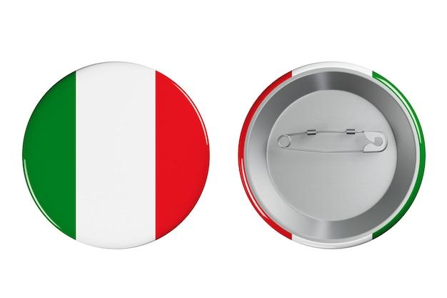 Distintivi con bandiera italia su sfondo bianco