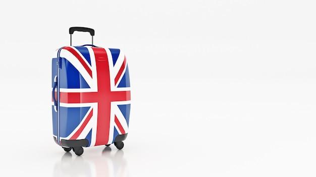Borsa bandiera britannica bandiere del rendering 3d del regno unito