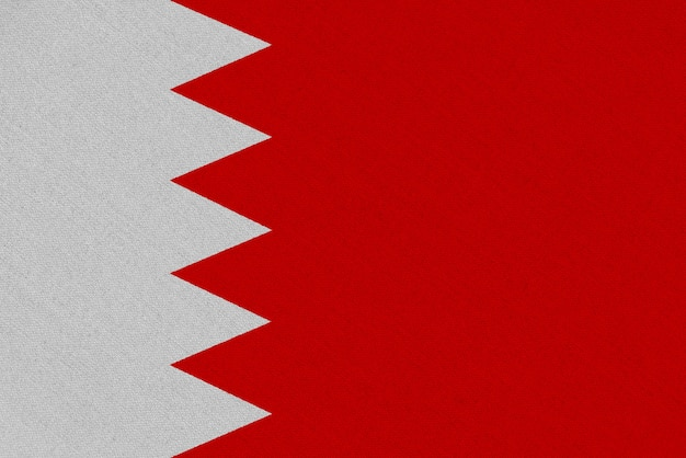 Bandiera del tessuto del bahrain