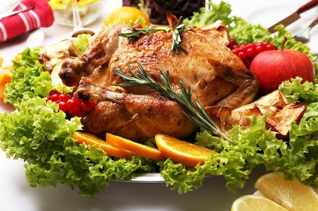 Pollo al forno per la cena festiva