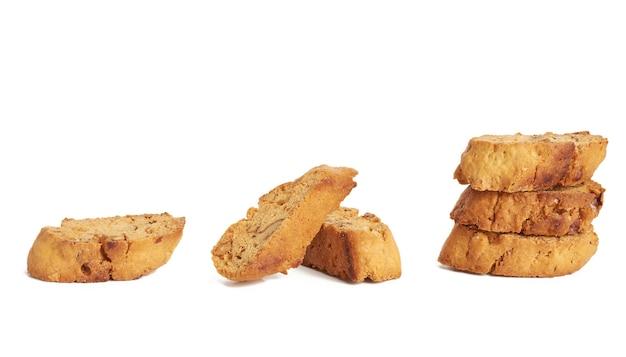 Biscotti cantuccini di mandorle italiani al forno