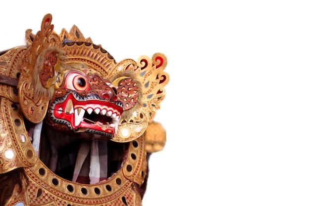 Maschera tradizionale balinese del diavolo barong