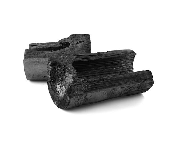 Carbone di bambù isolato