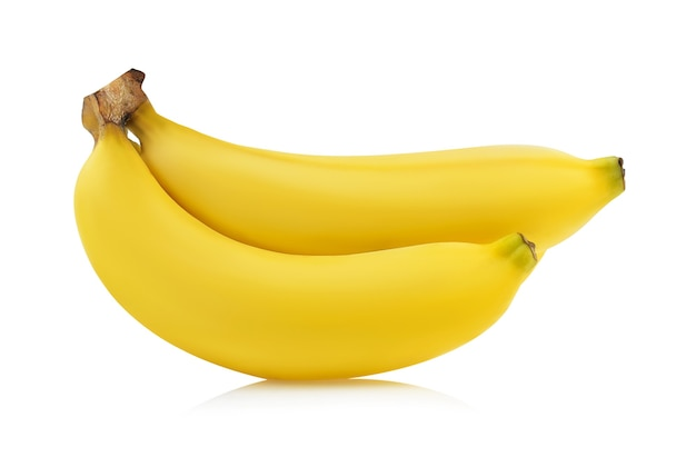 Banana isolata su sfondo bianco
