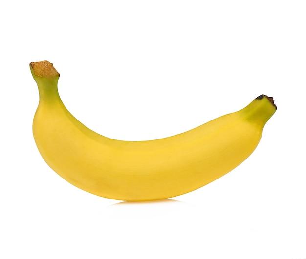 Banana isolata su fondo bianco.