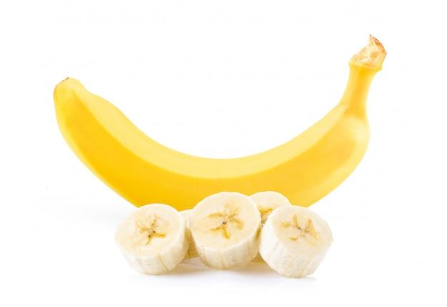 Banana su sfondo bianco