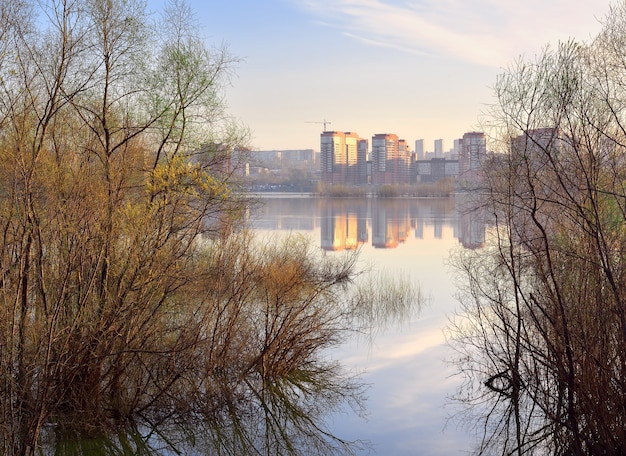 Banca dell'ob a novosibirsk Foto Premium