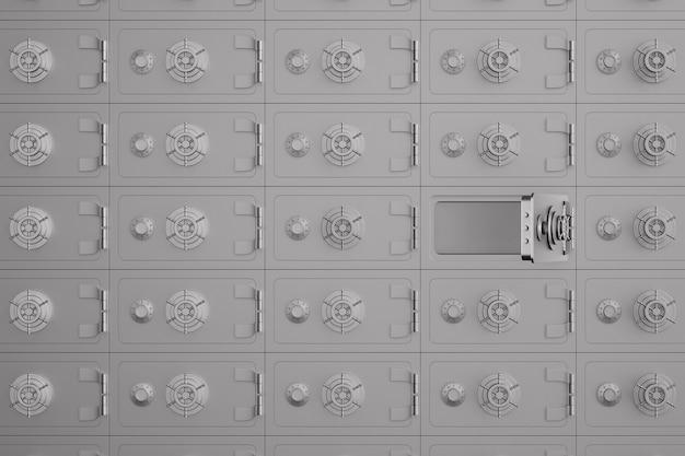 Cassaforte in banca. depositario. illustrazione 3d