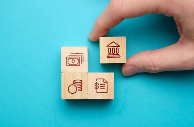Concetto di servizi bancari per prestiti e altre transazioni finanziarie.