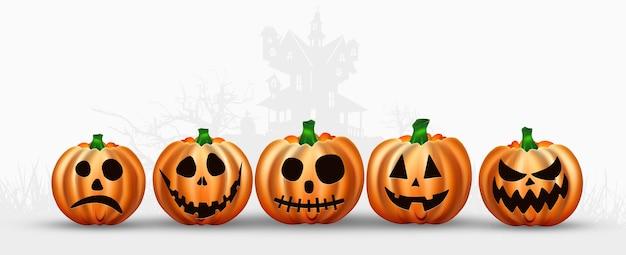 Banner per halloween. iscrizione halloween in rosso su sfondo bianco