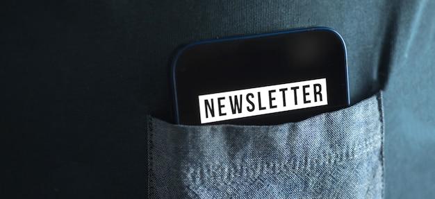 Banner iscriviti e registra la nostra newsletter per aggiornare le informazioni e iscriviti per le notizie, foto del concetto di nuovo membro