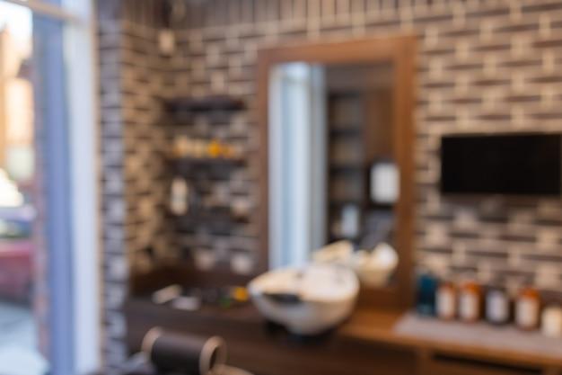 Barbershop sfondo sfocato parrucchiere e parrucchiere barbiere per uomini