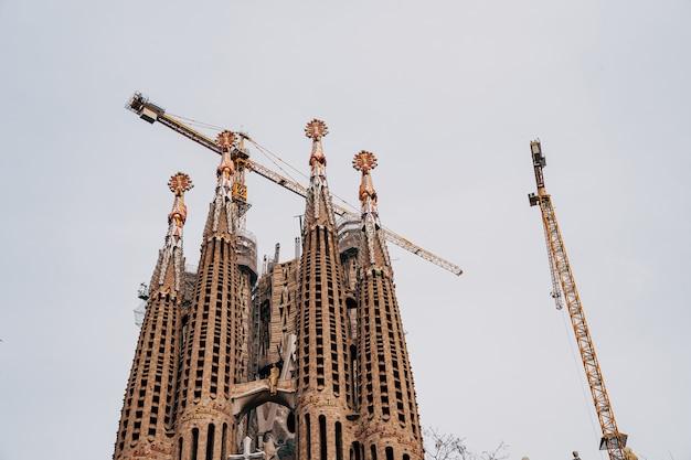 Barcellona spagna dicembre facciata delle passioni sagrada familia a barcellona