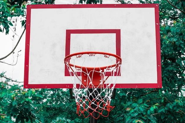 Rete da basket nel parco