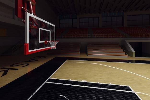 Campo da basket. arena sportiva.