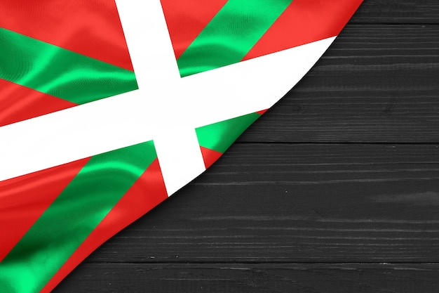 Spazio della copia del primo piano della bandiera basca