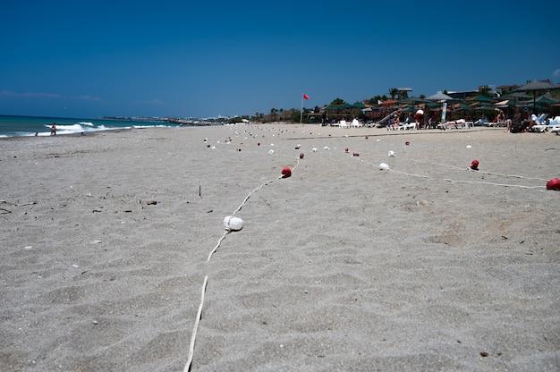 La spiaggia di coney island, new york. foto di alta qualità