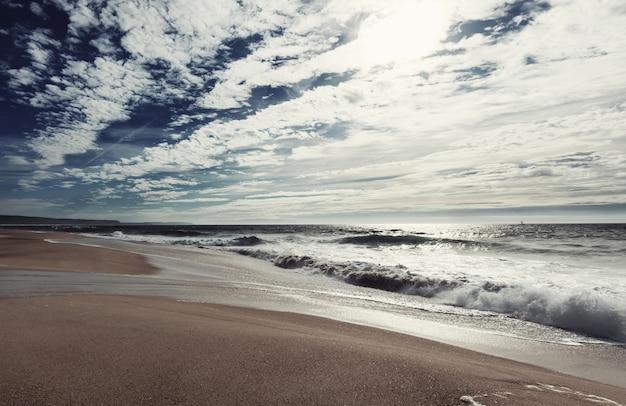 Spiaggia sulla costa dell'oceano