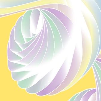 Bella astrazione con sfumature in uno sfondo colorato. un posto per il testo, contenuto astratto per il design. stile tecnologico futuristico. illustrazione di movimento.