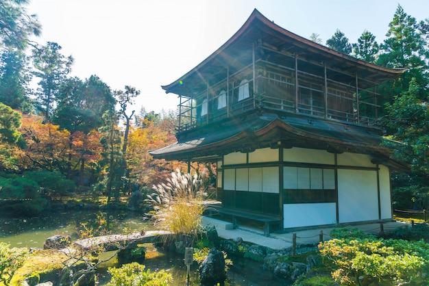 Bella architettura al tempio di silver pavillion ginkakuji