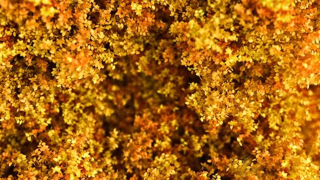 Bellissimo sfondo autunnale con foglie. rendering 3d.