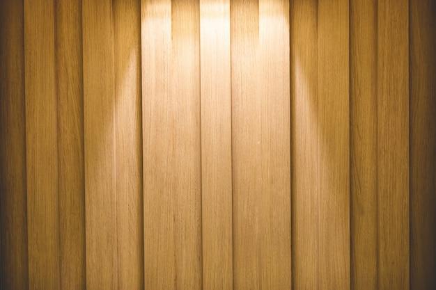 Bella immagine di sfondo di una parete in legno con faretti.