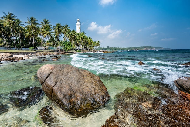 Bello paesaggio della spiaggia nello sri lanka