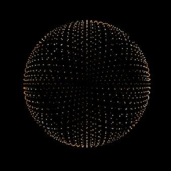 Bellissimo sfondo nero con glitter dorati. illustrazione 3d