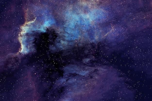 Una bellissima galassia nera nello spazio profondo. gli elementi di questa immagine sono stati forniti dalla nasa. foto di alta qualità